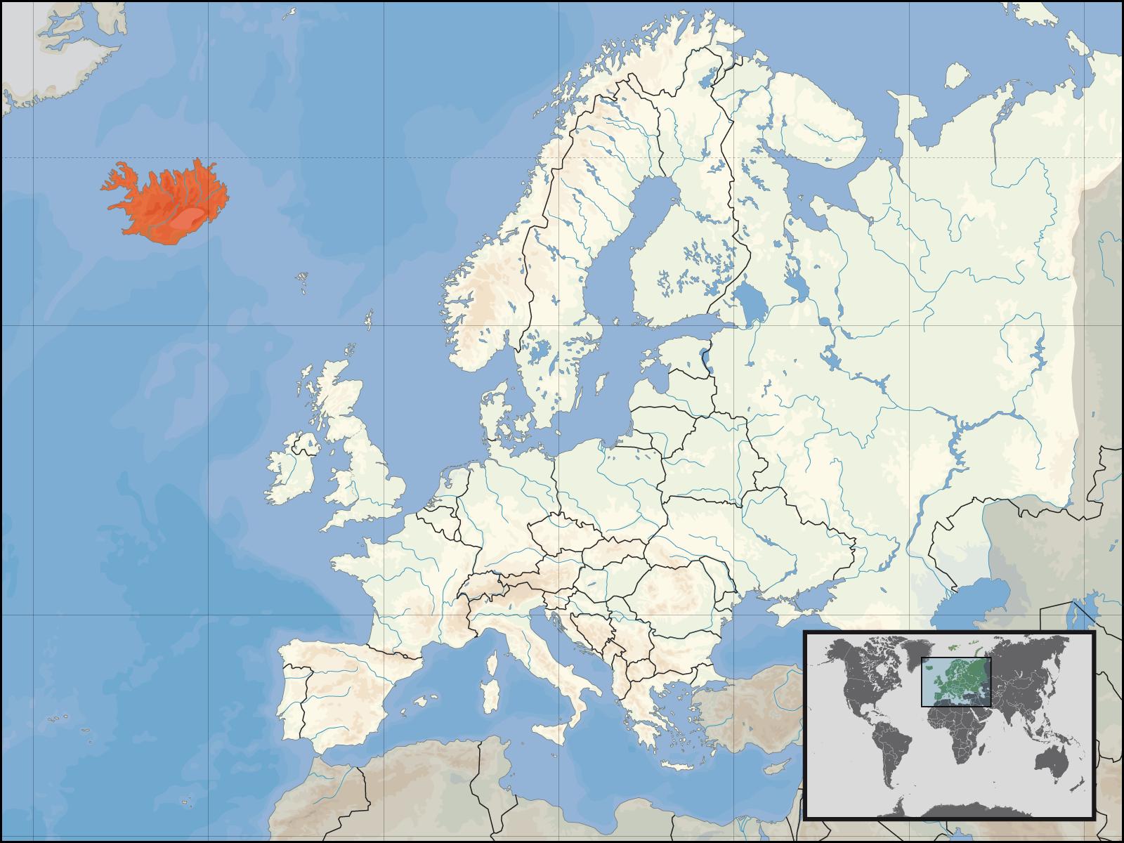 Map Of Iceland Iceland In Europe Weltkarte Com Karten Und